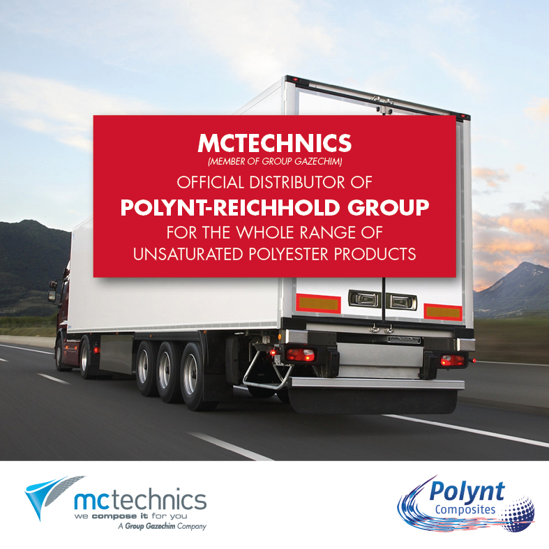 MCtechnics distribute of Polynt-Reichhold